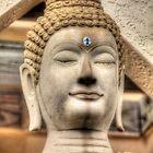 Stone Buddha - At Miami's Buddhist Temple by njordphoto
