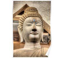 Stone Buddha - At Miami's Buddhist Temple Poster