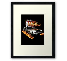 Time Machine Classic Car Delorean Framed Print