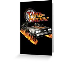 Time Machine Classic Car Delorean Greeting Card