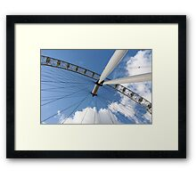 London Eye on Blue Sky Framed Print