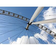 London Eye on Blue Sky Photographic Print