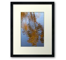 Abstract Gold and Blue Reflections Framed Print