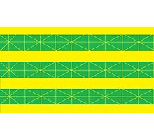 Green and Yellow Green and Yellow Stripes Photographic Print