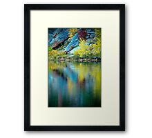 A Quiet Morning In Fall Framed Print