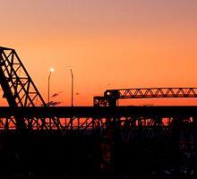 Cleveland Sunset by Marcia Rubin