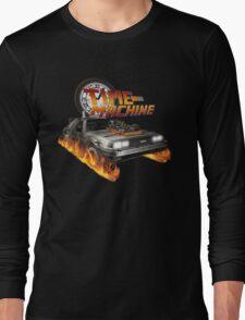 Time Machine Classic Car Delorean Long Sleeve T-Shirt