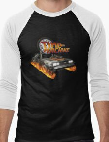 Time Machine Classic Car Delorean Men's Baseball ¾ T-Shirt