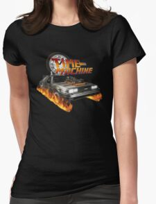 Time Machine Classic Car Delorean Womens Fitted T-Shirt