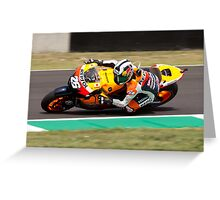 Dani Pedrosa in Mugello 2011 Greeting Card