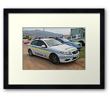 Ford Police Car- Royal Tasmania Show 2011 Framed Print