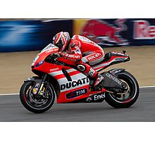 Nicky Hayden in Laguna Seca Photographic Print