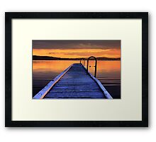 Jetty sunset Framed Print