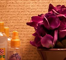 Purple Blooms and Perfumes by Sherry Hallemeier