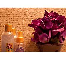 Purple Blooms and Perfumes Photographic Print