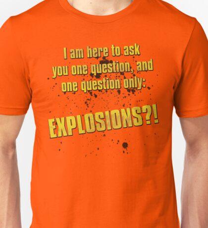 EXPLOSIONS?! Unisex T-Shirt