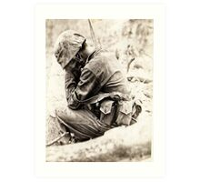 WW ll Soldier ~South Pacific~ Art Print