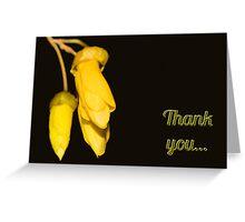 Thank You card - NZ Kowhai flower Greeting Card