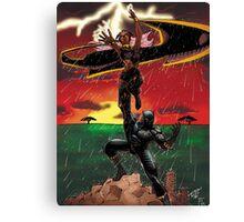 Black Panther & Storm Canvas Print