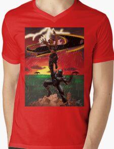 Black Panther & Storm Mens V-Neck T-Shirt