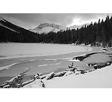 Snowy Elbow Lake Photographic Print