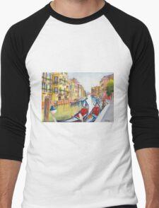 Fondamenta Bragadin, Venezia, Italia Men's Baseball ¾ T-Shirt