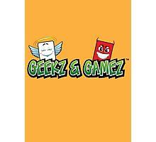 Geekz and Gamez Logo Photographic Print