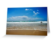 The surf beckons! Greeting Card