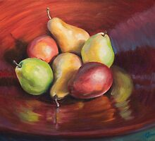 Bowl of Pears by offleashstudios