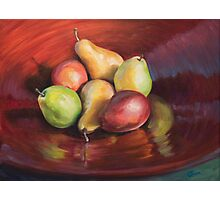 Bowl of Pears Photographic Print