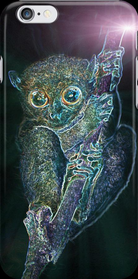 Psychedelic Phillipine tarsier by MotHaiBaPhoto Dmitry & Olga