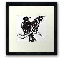 Hugin and Munin Framed Print
