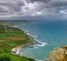Cherbourg Coastline by Sue Martin