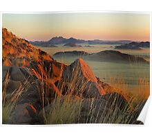 sunset on the Namib Desert Poster