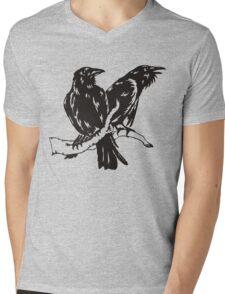 Hugin and Munin Mens V-Neck T-Shirt
