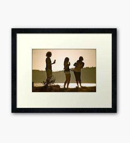 Summer Gathering Framed Print