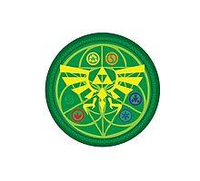 Zelda Ocarina of Time Emblem  Photographic Print