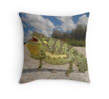 Flap-necked chameleon - Namibia Throw Pillow