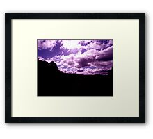 purple view Framed Print