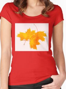 Maple leaves Women's Fitted Scoop T-Shirt