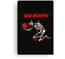 New BAD BRAINS Metal Punk Rock Band Skeleton  Men's Black T-Shirt Canvas Print