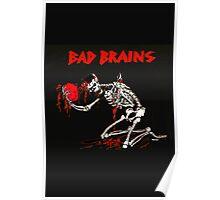 New BAD BRAINS Metal Punk Rock Band Skeleton  Men's Black T-Shirt Poster