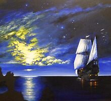 Sail Away to the Moon and Stars by JamesLee