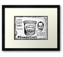 Herman Cain is Black Walnut cartoon Framed Print