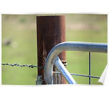 Rusty fence Poster