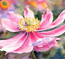 Pink Anemone by Ruth S Harris