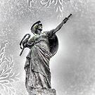 Snowy Drawn Dagger by LJ_©BlaKbird Photography