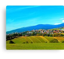 Unsettled geography Canvas Print