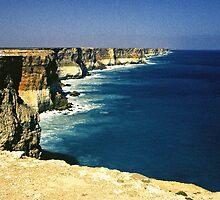 Cliffs of the Great Australian Bight by Alex Cassels