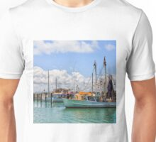 Moored Boats in a beautiful harbour Unisex T-Shirt